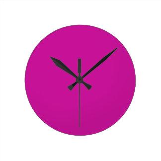 Hot Neon Pink Clock
