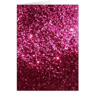 HOT NEON PINK SPARKLE GLITTER BACKGROUND PARTY FUN CARD