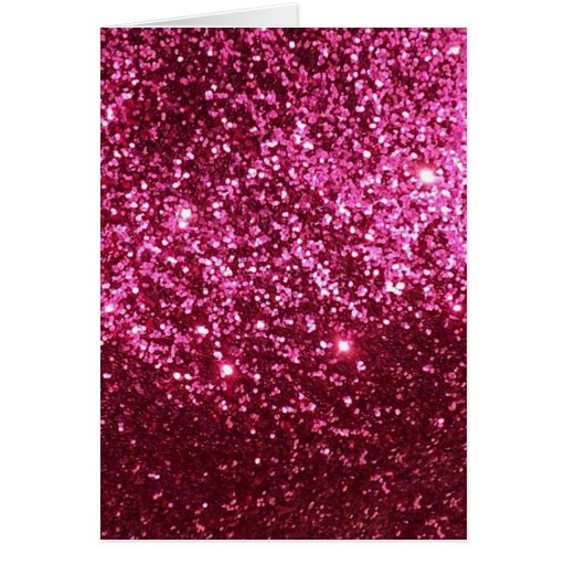 HOT NEON PINK SPARKLE GLITTER BACKGROUND PARTY FUN GREETING CARD
