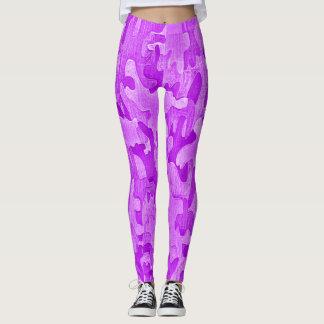 Hot Neon Purple Street Ninja Camo Leggings