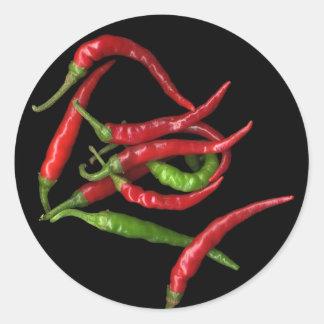 Hot Pepper 1 Round Sticker