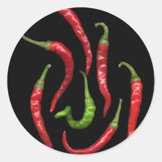 Hot Pepper 6 Round Sticker