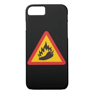 Hot pepper danger sign iPhone 7 case