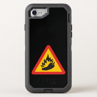 Hot pepper danger sign OtterBox defender iPhone 7 case