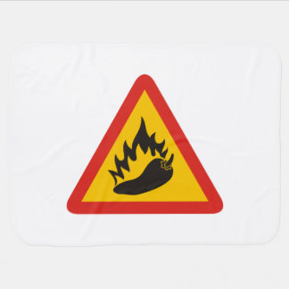 Hot pepper danger sign pram blanket