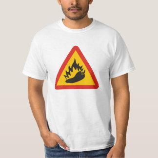 Hot pepper danger sign t shirt
