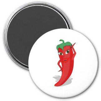 Hot Pepper Diva 7.5 Cm Round Magnet