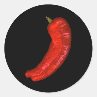 Hot Pepper Round Sticker