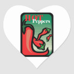 Hot Pepper Text Graphic two chilis Sticker