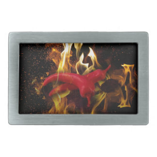 Hot peppers belt buckles