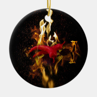 Hot peppers christmas ornament