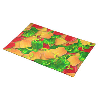 Hot peppers colorful placemat