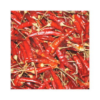 Hot Peppers on Canvas Stretched Canvas Prints
