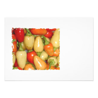Hot Peppers red yellow and orange Personalized Announcement