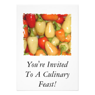 Hot Peppers red yellow orange you're invited! Invite