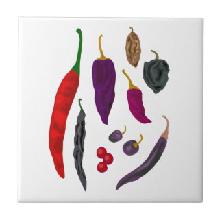 Hot Peppers Spice Kitchen Tile