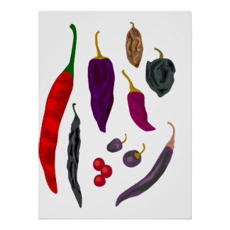 Hot Peppers Spice Print