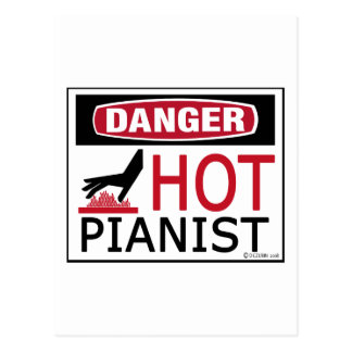 Hot Pianist Postcard