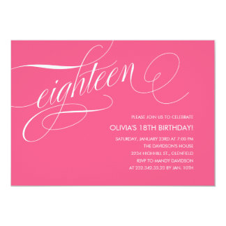 18th Birthday Party Invitations Announcements Zazzle Co Uk