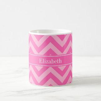 Hot Pink #2 Cotton Candy LG Chevron Name Monogram Mugs