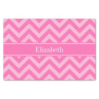 Hot Pink #2 Cotton Candy LG Chevron Name Monogram Tissue Paper