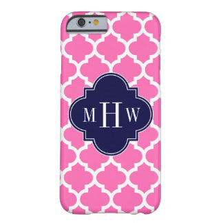Hot Pink#2 Wht Moroccan #5 Navy 3 Initial Monogram Barely There iPhone 6 Case