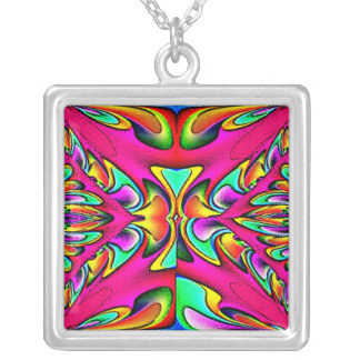 Hot Pink Abstract Design Necklace