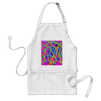Hot Pink Abstract Girly Doodle Design Novelty Gift Apron