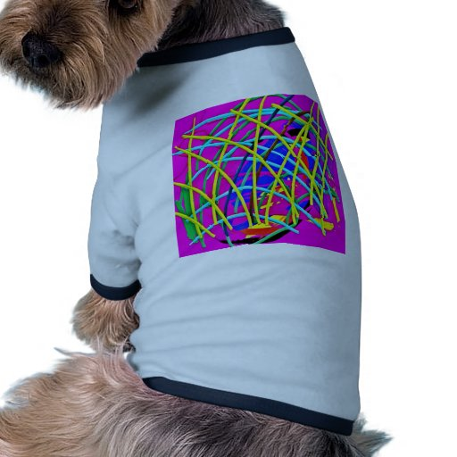Hot Pink Abstract Girly Doodle Design Novelty Gift Doggie Tee