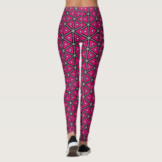 Hot Pink Abstract Leggings