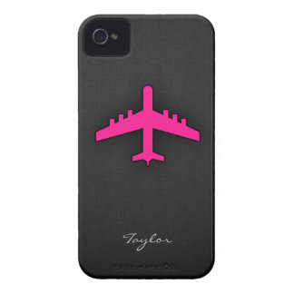Hot Pink Airplane Case-Mate iPhone 4 Case
