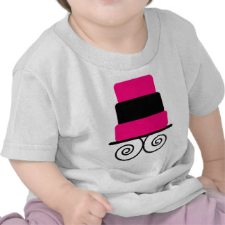 Hot Pink and Black 3 Tier Cake Shirts