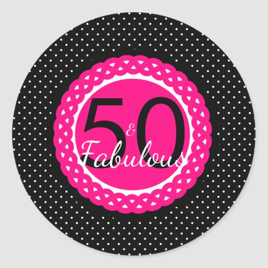 Hot Pink and Black 50 & Fabulous Birthday