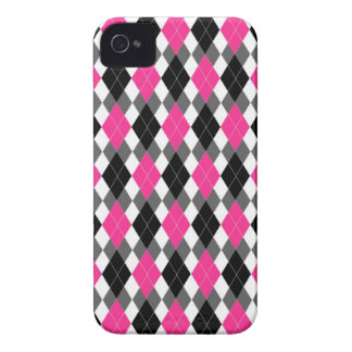 Hot Pink and Black Argyle iPhone 4 Case
