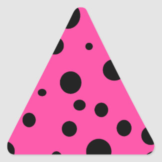 Hot Pink and Black Bubbles Polka Dots Fun Stickers