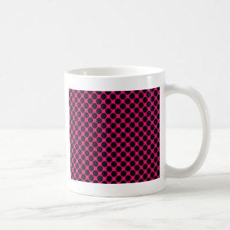 Hot Pink and Black Polka Dots Basic White Mug