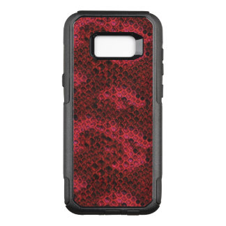 Hot Pink and Black Snake Skin Pattern OtterBox Commuter Samsung Galaxy S8+ Case
