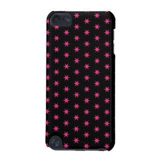 Hot Pink and Black Stars iPod Touch (5th Generation) Case