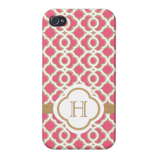 Hot Pink and Gold Moroccan iPhone 4 Case