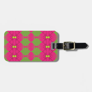 Hot Pink and Neon Green Luggage Tag