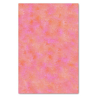 Hot Pink and Orange Feather Design Tissue Paper