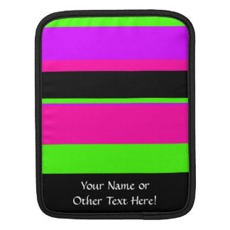 Hot Pink and Purple Tonal Stripes Modern Design iPad Sleeve