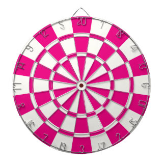Hot Pink And White Dartboard