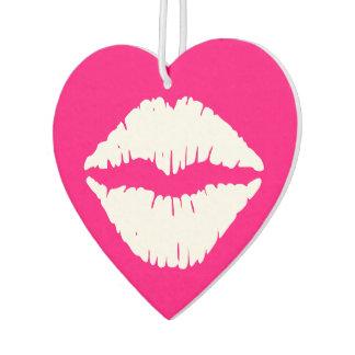 Hot Pink and White Lipstick Car Air Freshener
