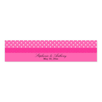 Hot Pink and White Polka Dot Wedding Napkin Band