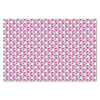 "Hot Pink and White Soccer Ball 10"" X 15"" Tissue Paper"