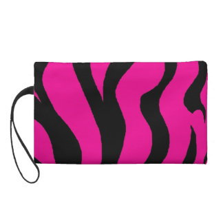 hot pink animal print bag wristlets