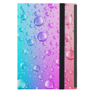 Hot Pink & Aqua Blue Gradient Water Droplets Covers For iPad Mini