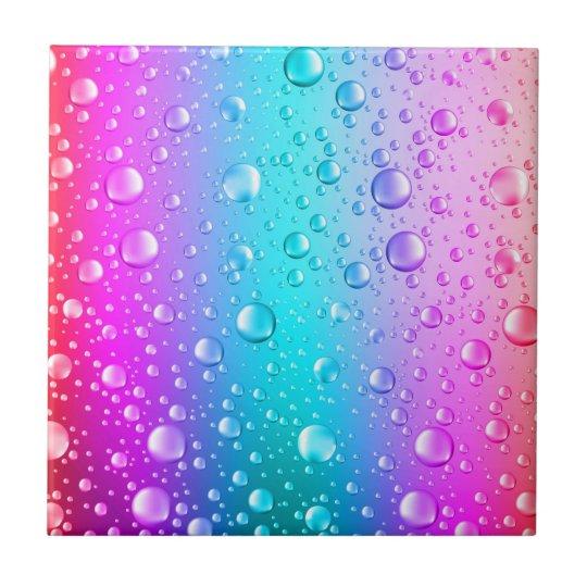 Hot Pink & Aqua Blue Gradient Water Droplets