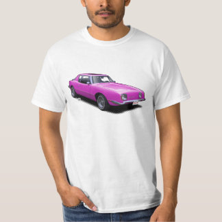 Hot Pink AvanTee Classic American Car T-Shirt